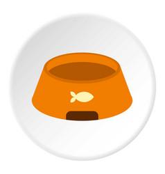 bowl for animal icon circle vector image