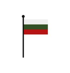 Bulgarian flag vector