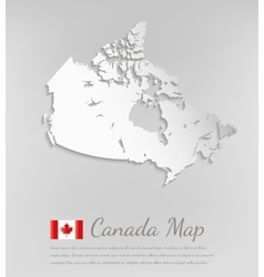 Canada map 3D map with smooth shadow vector image vector image