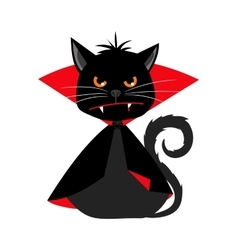 Cat vampire in dracula carnival costume vector