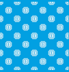 Chip pattern seamless blue vector