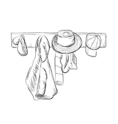 Clothes and hat of the hanger vector
