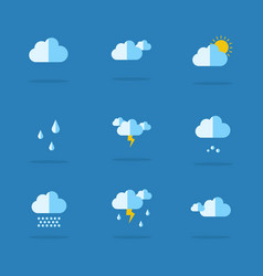 Collection of weather set icon vector