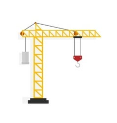 Crane isolated on white vector