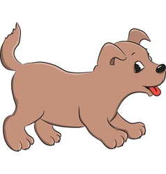 dog brown vector image