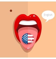 English language concept vector image vector image