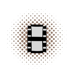 Film strip comics icon vector image