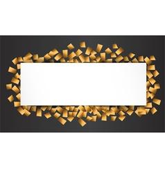 gold blank celebration background vector image