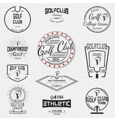 Golf badges logos and labels for any use vector image