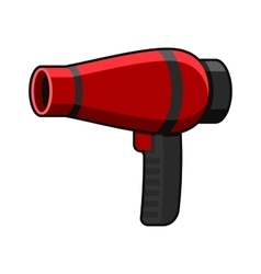 Hairdryer Icon on White Background vector image vector image
