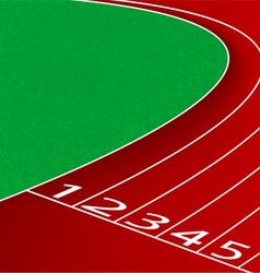 Racetrack scene vector