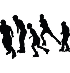 roller skaters collection - vector image