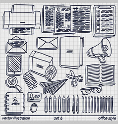 sketch work style set 2 vector image
