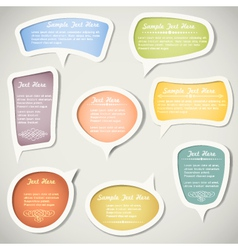 Speech bubbles with calligraphic elements vector image