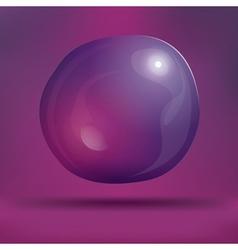 Transparent Soap Bubble on Purple Background vector image
