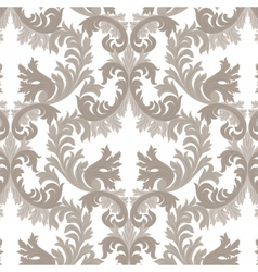 Vintage rich baroque floral damask pattern vector