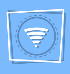 Wifi icon wireless internet connection web button vector