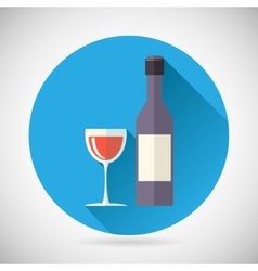 Wine Luxury Alcohol Symbol Bottle with stopper and vector image