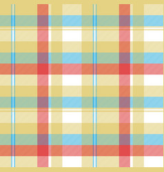 Yellow plaid tartan seamless pattern vector