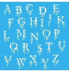 Paint alphabet letters halloween cartoon style vector