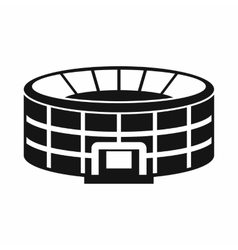 Stadium icon in simple style vector