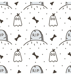 Spooky halloween seamless pattern background vector
