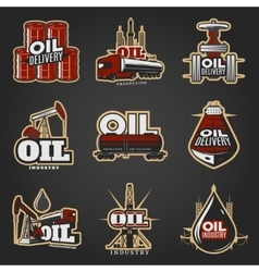 Oil Industry Colorful Logos vector image