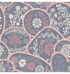 Seamless pattern in retro style with hand vector