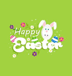 Happy easter spring rabbit design for celebration vector