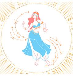 Icon dancing woman vector