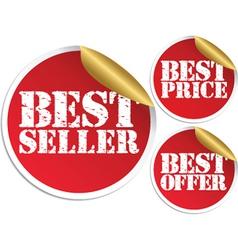 Best seller set vector image