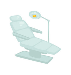Dentist chair with standing lamp isolated on white vector