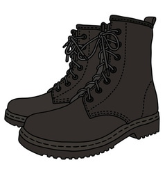 Black leather boots vector