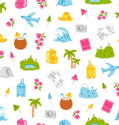 Go on and travel pattern vector