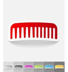 Realistic design element scallop vector