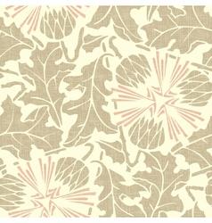 Vintage Seamless floral background dandelion vector image