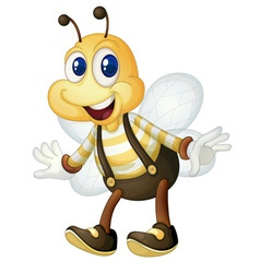 Bee man vector