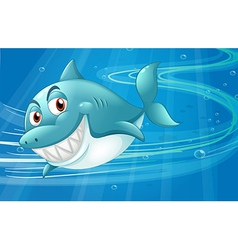 A shark under the sea vector image
