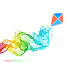 Abstract color background with wave and kite vector image vector image