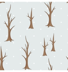 Bare winter trees seamless pattern vector