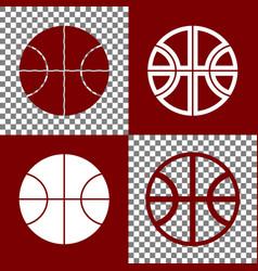 Basketball ball sign bordo vector