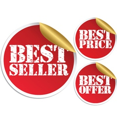 Best seller set vector image vector image