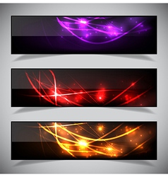 Bright abstract banners collection vector image vector image
