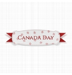 Canada day greeting label with ribbon vector