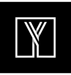 Capital letter y monogram logo emblem vector