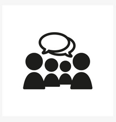 chat icon in simple black design vector image vector image