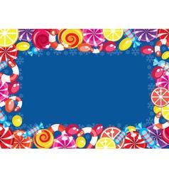 Christmas candy frame vector