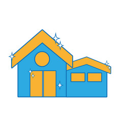 clean house with roof and door design vector image vector image