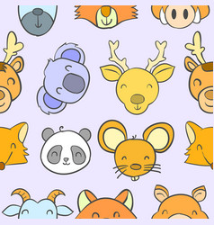 Collection stock animal funny doodles vector