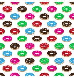 Color sweet food donuts seamless pattern eps10 vector